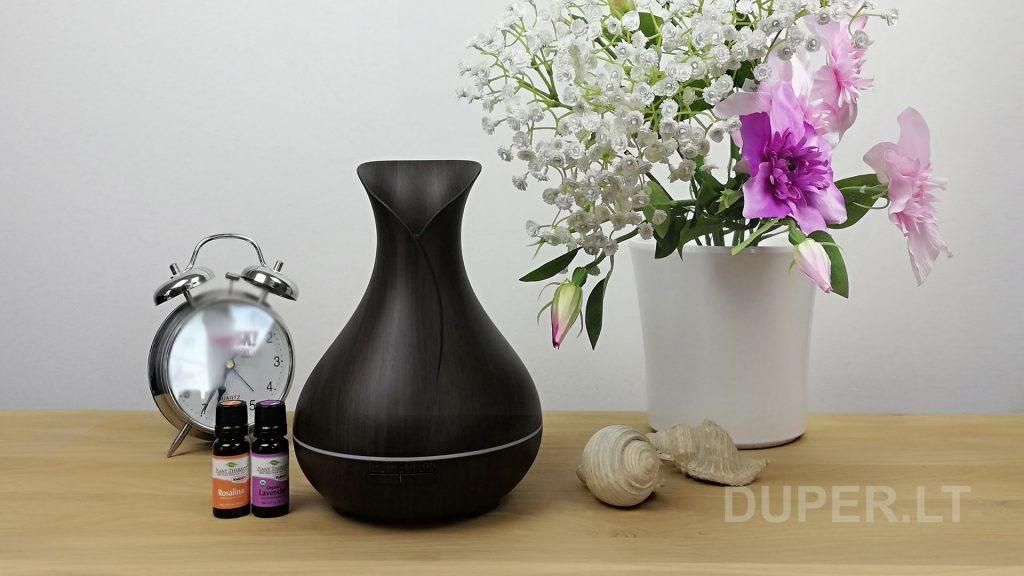 Difuzorius Vaza su tamsaus medžio imitacija