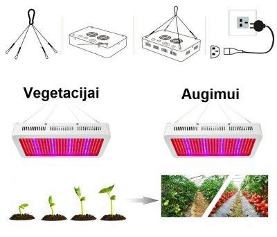 led apšvietimas augalams daiginti auginti 300W_6