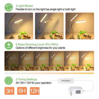LED apšvietimas tvirtinimu valdikliu augalams_2