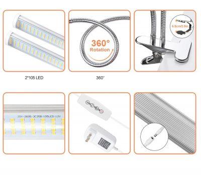 LED apšvietimas tvirtinimu valdikliu