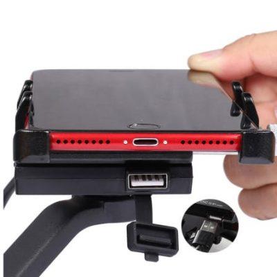 GUB G-91 telefono laikiklis su USB kištuku