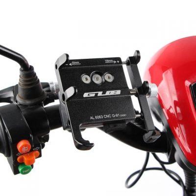 GUB G-91 telefono laikiklis su USB motociklui