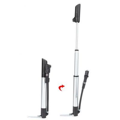GUB P003 dviračio pompa su slėgio matuokliu dviejų cilindrų_2