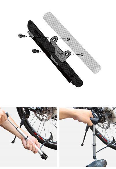 GUB P003 dviračio pompa su slėgio matuokliu pūtimas