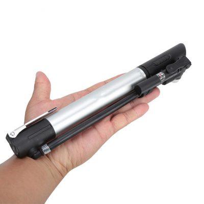 GUB P003 dviračio pompa su slėgio matuokliu kompaktiška