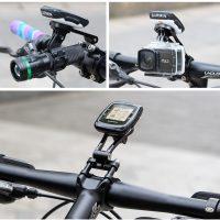Anglies pluošto daugiafunkcinis dviračio kompiuterio laikiklis GUB G696 universalus